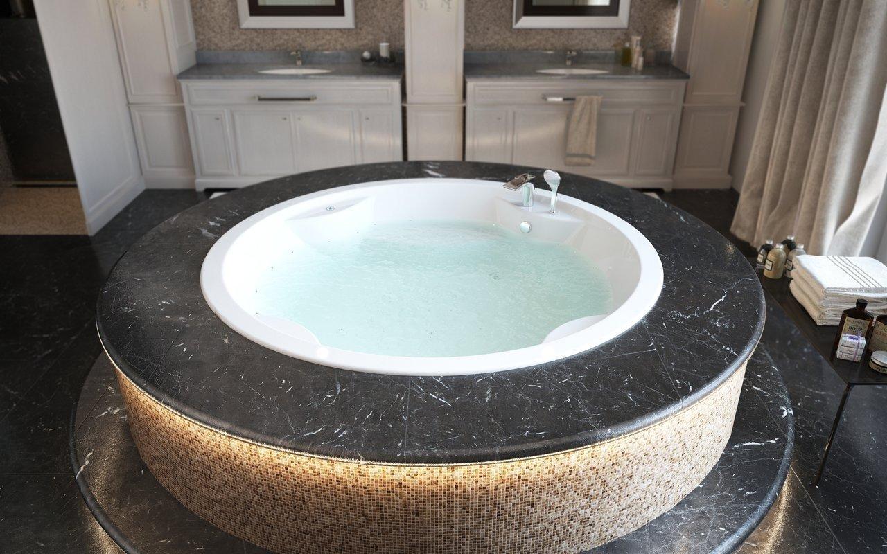 Aquatica Allegra balta iebūvējama akrila vanna ar gaisa masāžu picture № 0