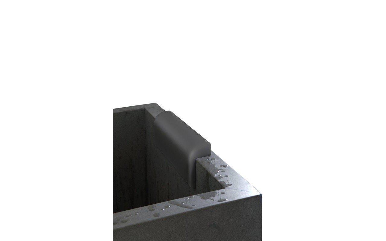 Aquatica Comfort galvas balsts vannai, melns picture № 0