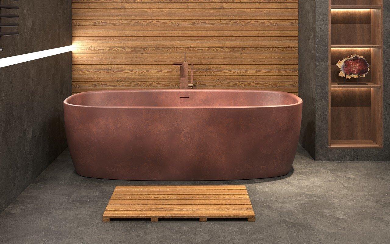 Aquatica Coletta™ Bronze brīvstāvoša cietās virsmas vanna, bronzas picture № 0