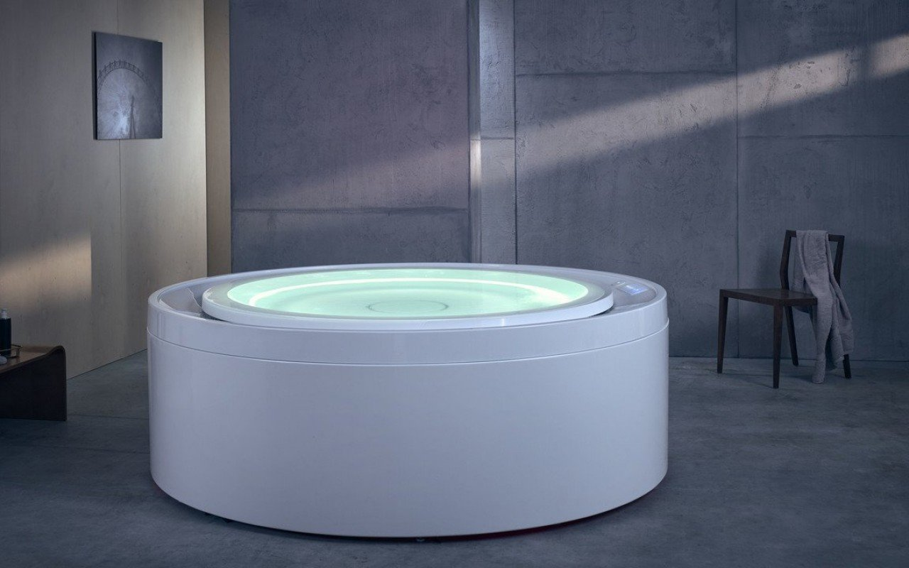 Aquatica Fusion Rondo HydroRelax Jetted OutdoorIndoor Bathtub US version 240V 60Hz 02 (web)