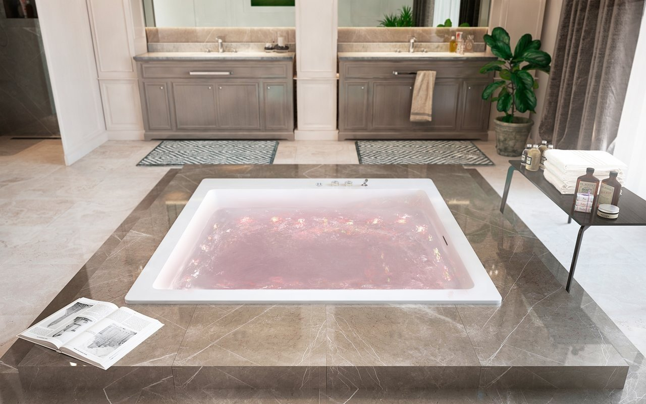 Aquatica Lacus-Wht Drop-In Relax Gaisa masāžas vanna, balta picture № 0