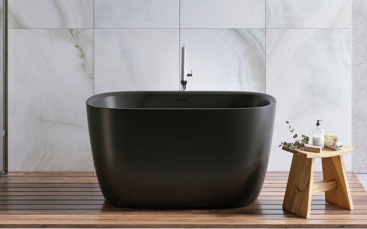 Aquatica Lullaby 2 melna brīvstāvoša Solid Surface vanna picture № 0