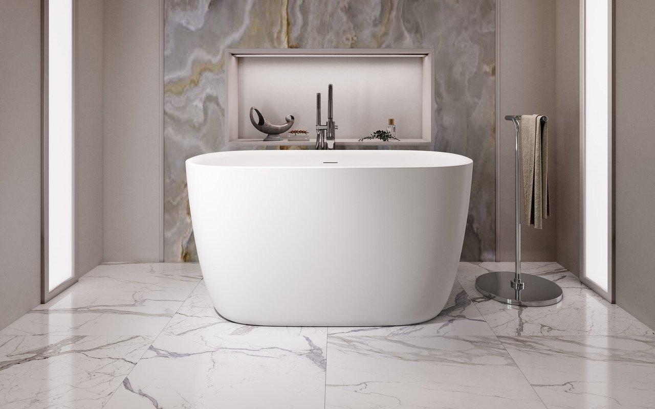 Aquatica Lullaby 2-Wht™ brīvstāvoša Solid Surface vanna, balta picture № 0