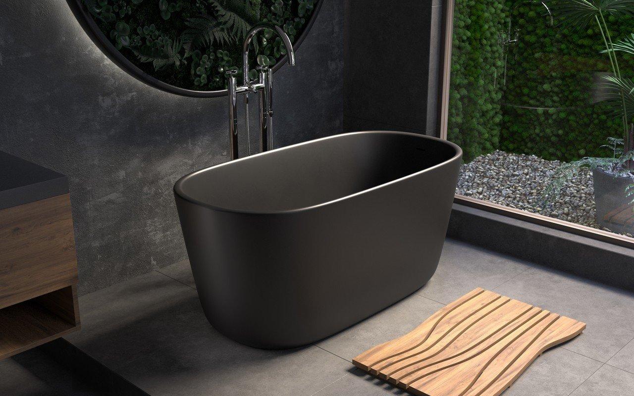 Aquatica Lullaby-Mini™ melna brīvstāvoša Solid Surface vanna picture № 0