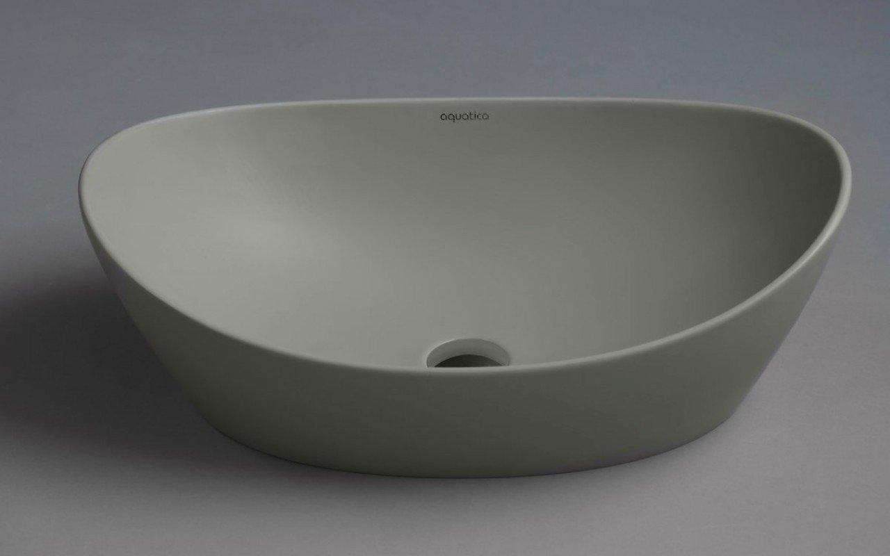 Aquatica Luna-Sleek-Concrete akmens izlietne, betona picture № 0