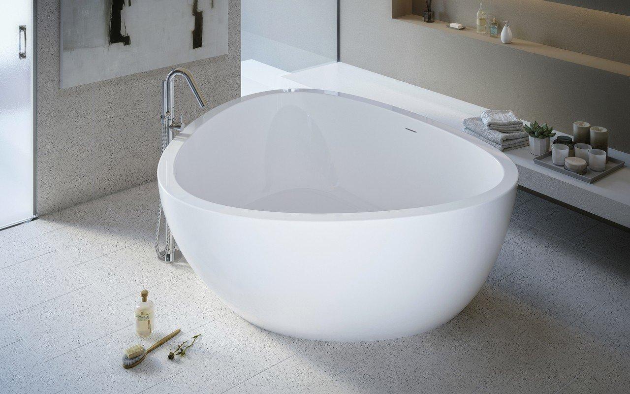 Aquatica Trinity-Wht brīvstāvoša akrila vanna– mirdzoši spīdīga, balta picture № 0