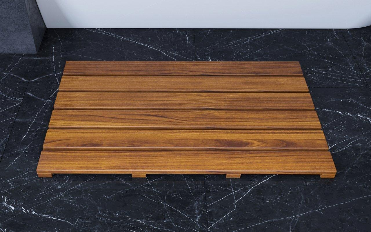 """Aquatica Universal 33.5"""" ūdensizturīgs iroko koka grīdas paliktnis vannai vai dušai picture № 0"""