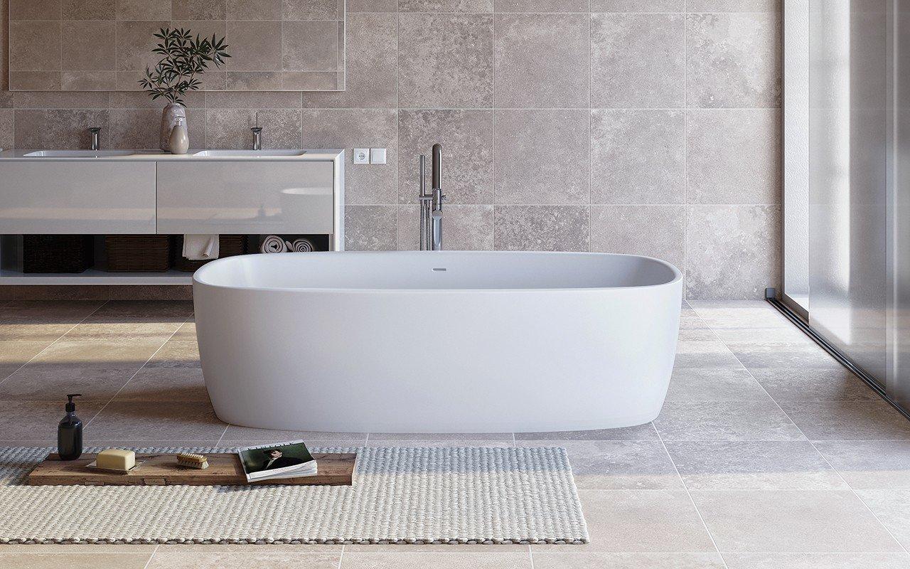 Aquatica Coletta™ White brīvstāvoša Solid Surface vanna, balta picture № 0