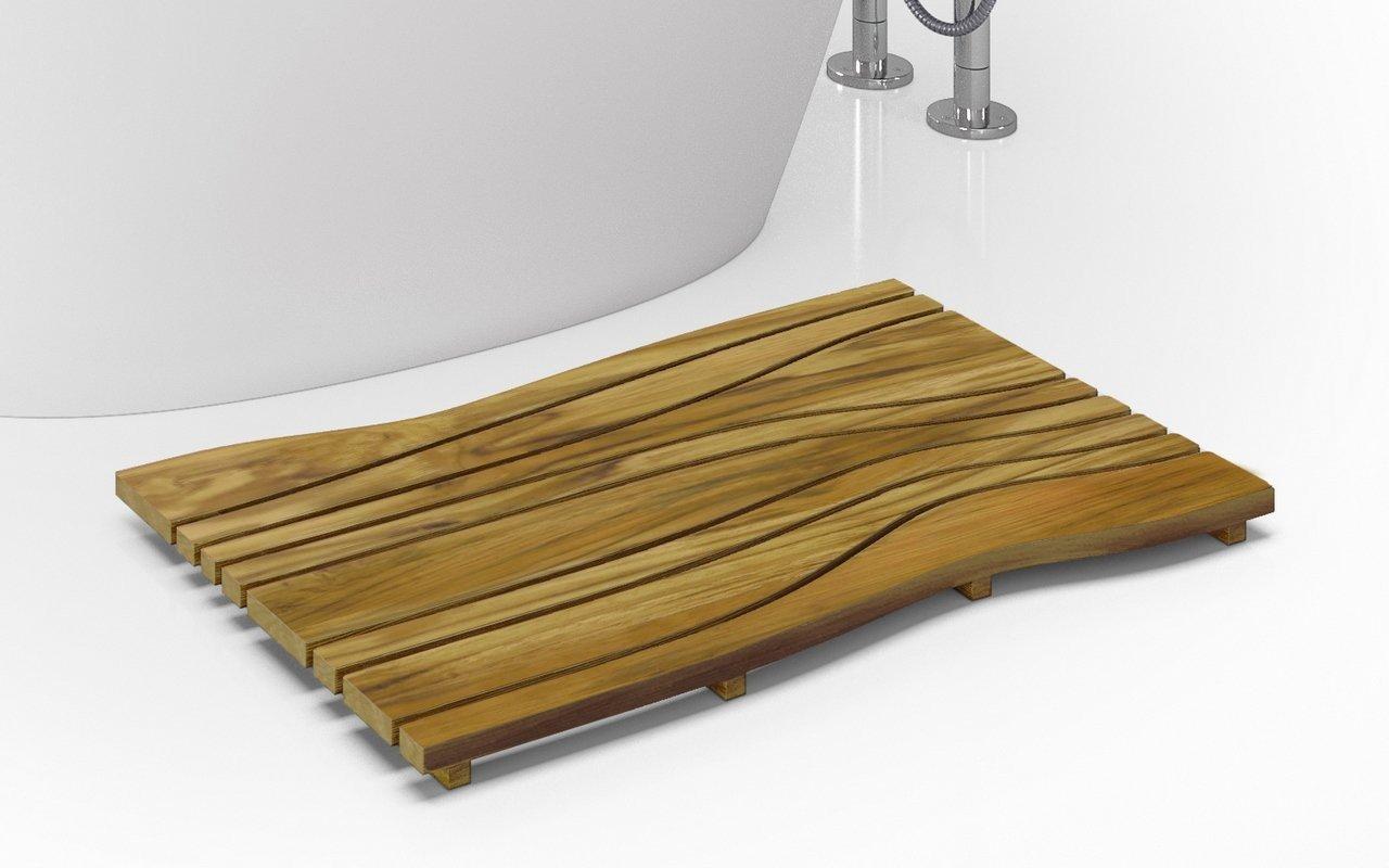 Aquatica Onde ūdensizturīgs tīkkoka grīdas paliktnis vannai vai dušai picture № 0