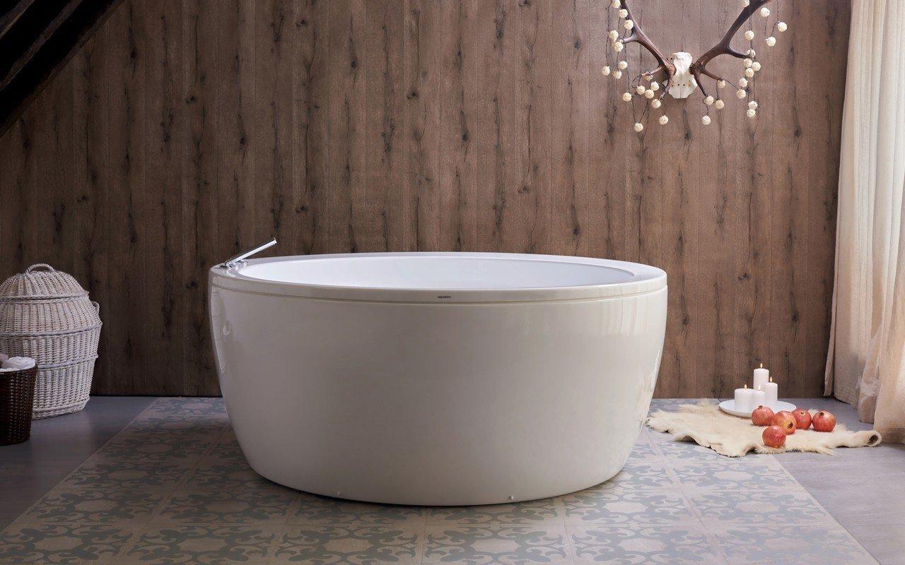 Aquatica Pamela-Wht brīvstāvoša akrila vanna, balta picture № 0