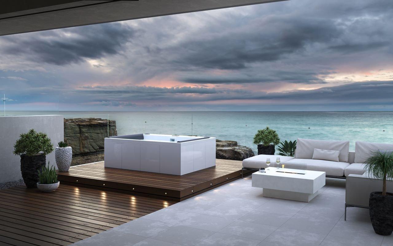 Aquatica Downtown Spa ar baltiem Maridur® kompozītmateriāla paneļiem picture № 0