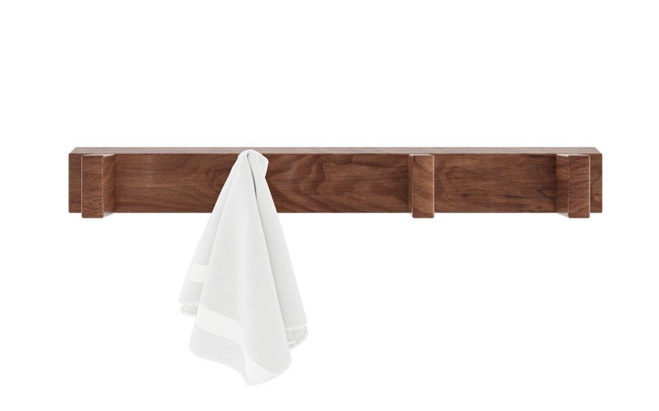 """Aquatica Universal 19.75"""" ūdensizturīgs, pie sienas stiprināms koka pakaramais ar 4āķiem picture № 0"""