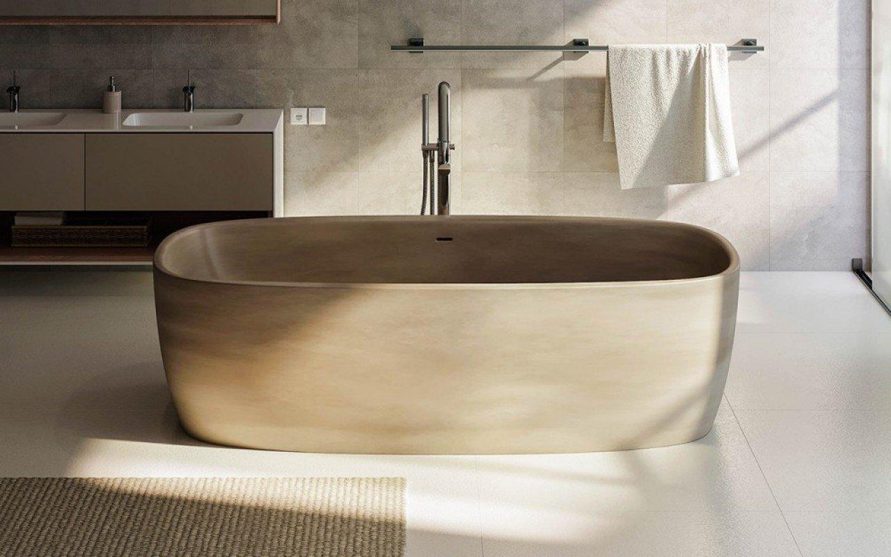 Aquatica Coletta™ Sandstone Textures brīvstāvoša Solid Surface vanna, smilšakmens tekstūras picture № 0
