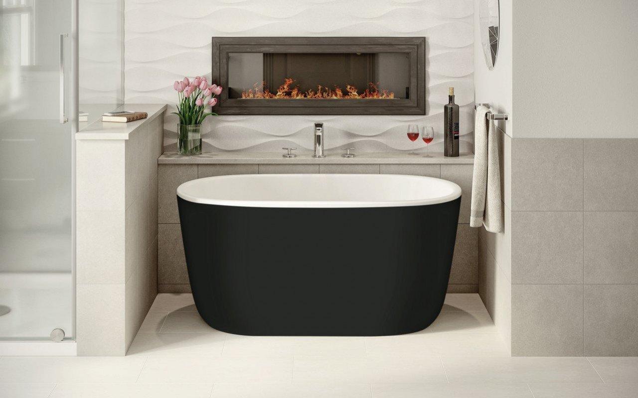 Aquatica Lullaby-Nano-Blck-Wht™ Small Freestanding Solid Surface Bathtub picture № 0