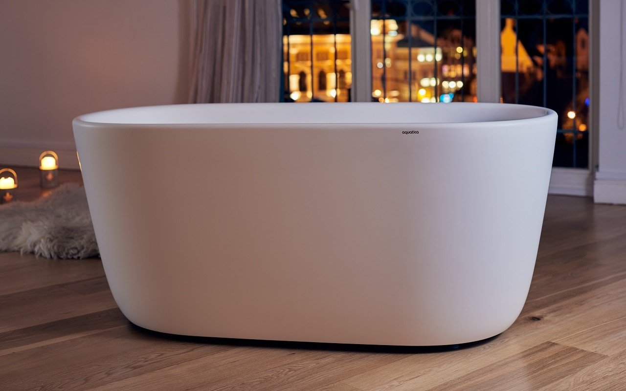 Aquatica Lullaby-Wht™ (Purescape 602M) Freestanding Solid Surface Bathtub picture № 0