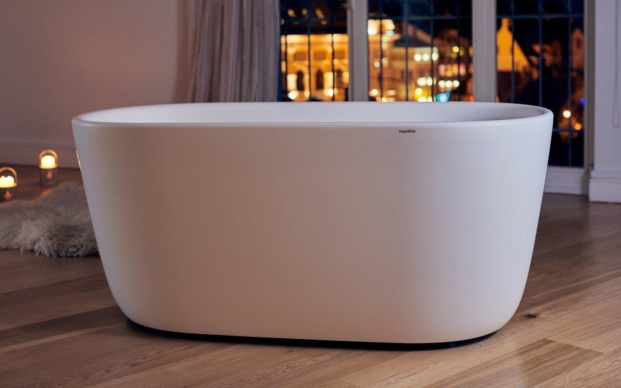 Aquatica Lullaby-Mini-Wht™ brīvstāvoša Solid Surface vanna, balta picture № 0