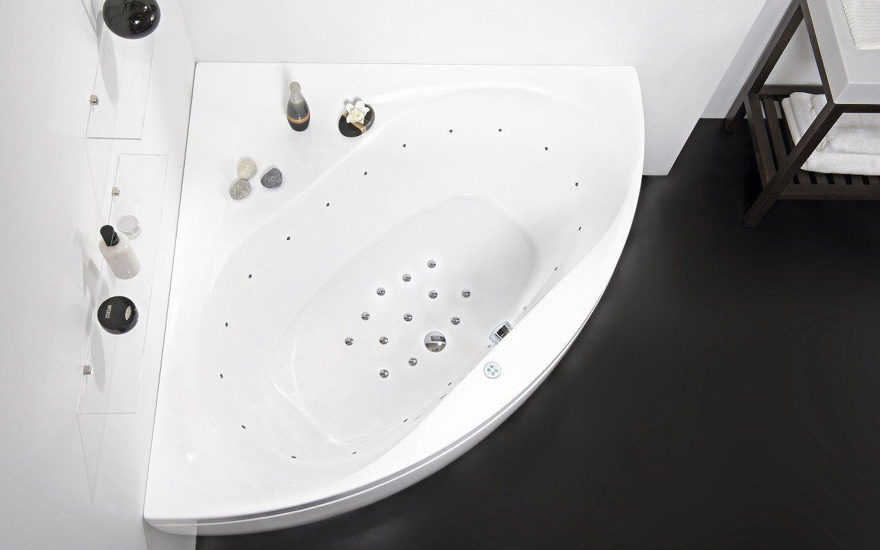 Aquatica Olivia-B balta stūra akrila gaisamasāžas vanna picture № 0