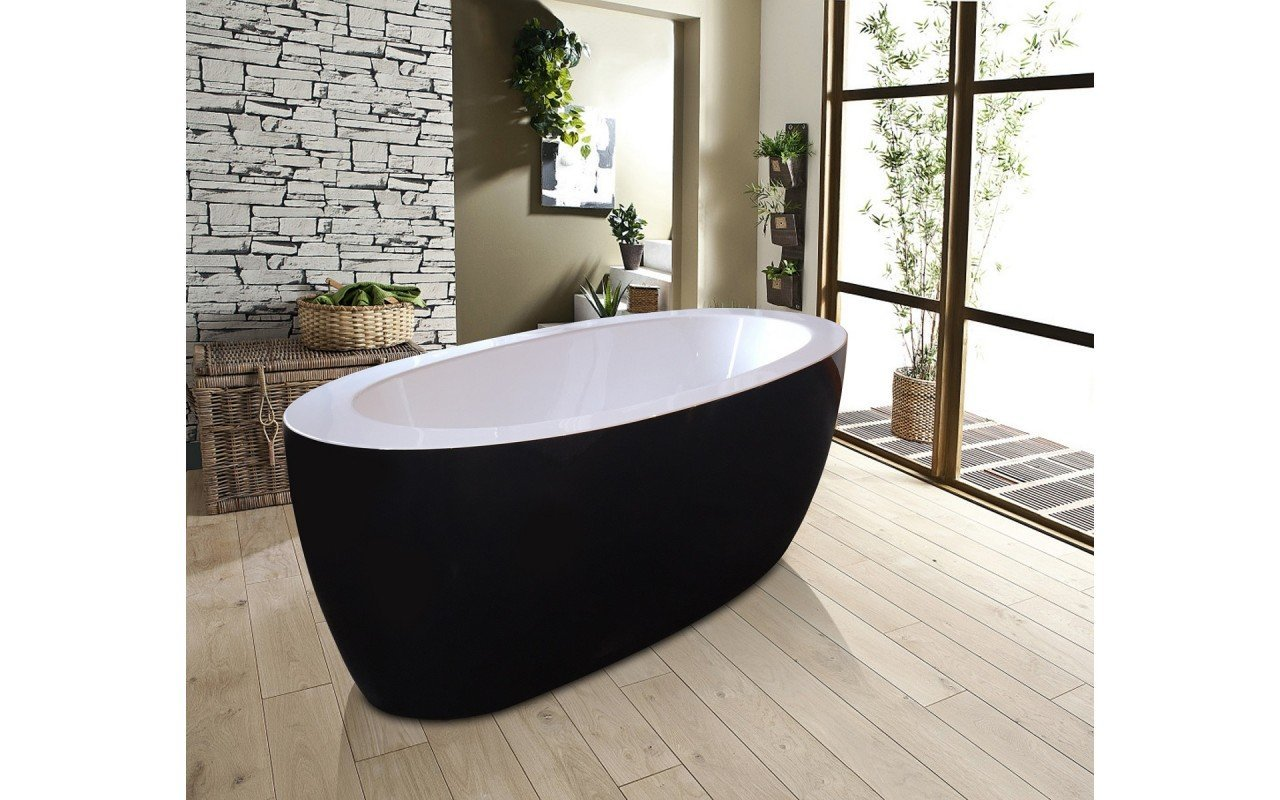 Aquatica Purescape™ 174B-Blck-Wht Freestanding Acrylic Bathtub picture № 0