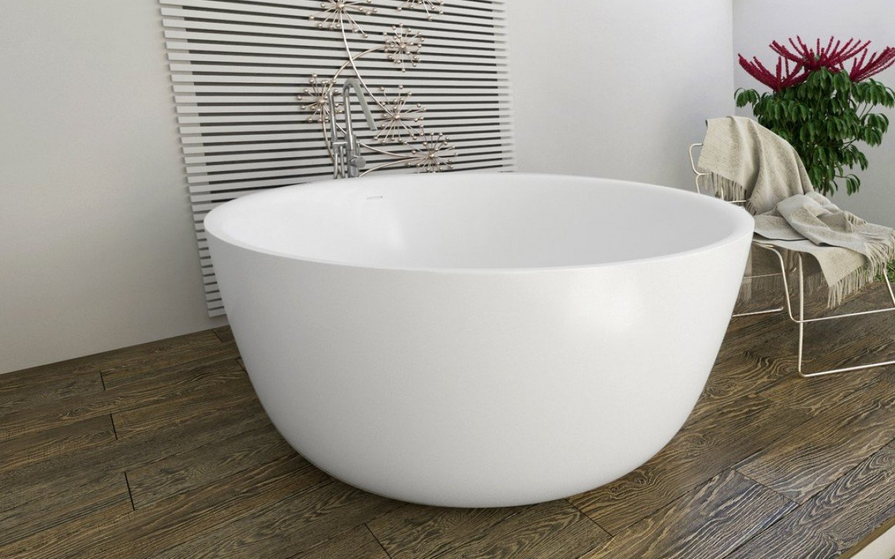 Aquatica Purescape™ 720M Round Freestanding Solid Surface Bathtub picture № 0