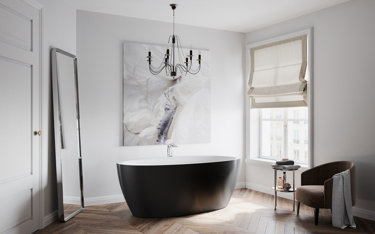 Sensuality Back wht freestanding oval solid surface bathtub by Aquatica (1) Copy