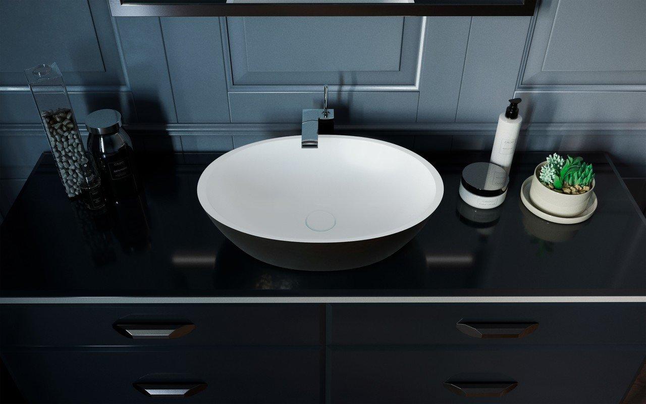 Aquatica Sensuality-Blck-Wht™ akmens, uz virsmas uzstādāma vannasistabas izlietne, melnbalta picture № 0