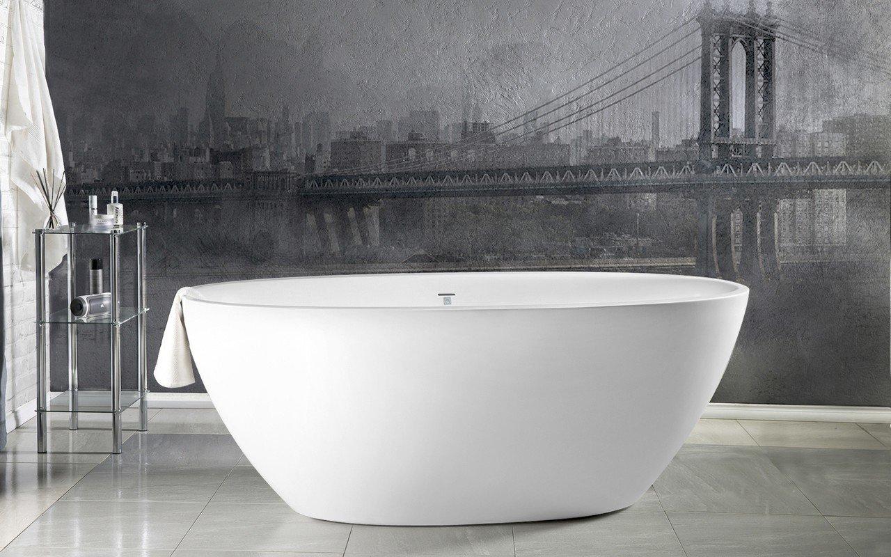 Aquatica Sensuality™ Mini-F-Wht brīvstāvošā Solid Surface vanna picture № 0