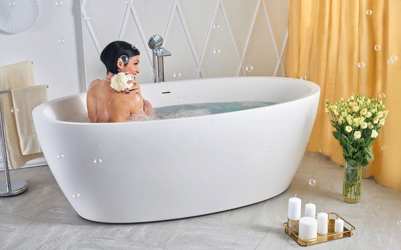 Aquatica Sensuality-Wht™ brīvstāvošā Solid Surface vanna picture № 0