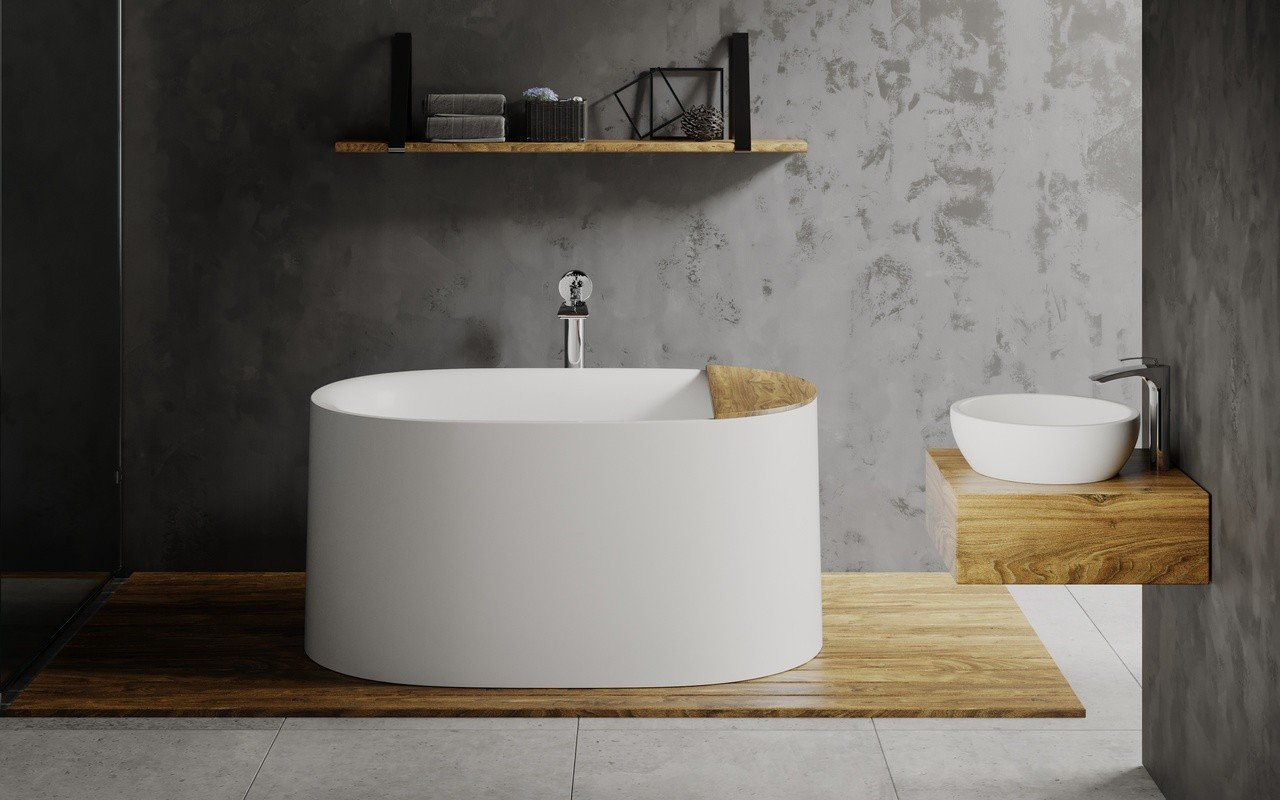 Aquatica Sophia-Wht brīvstāvoša Solid Surface vanna– matēta, balta picture № 0