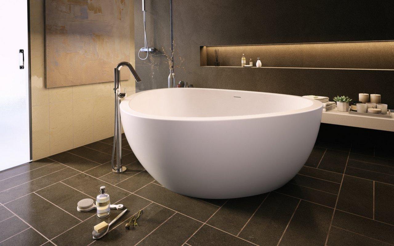 Aquatica Trinity-M-Wht brīvstāvoša VelveX™ vanna– matēta picture № 0