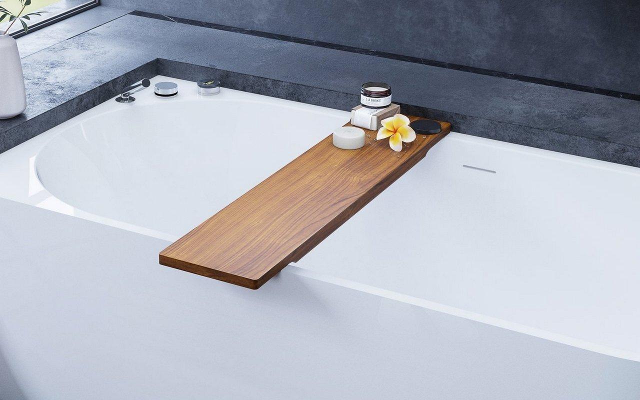"""Aquatica Universal 36.25"""" ūdensizturīgs iroko koka plaukts vannai picture № 0"""
