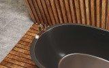 Spoon 2 Black Freestanding Solid Surface Bathtub thick wall 2 (web)