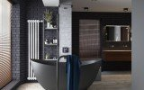 Aquatica Purescape 171 Black Freestanding Solid Surface Bathtub Project in Moscow Russia 01 (web)