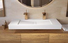 Aquatica Millennium 120 Wht Stone Bathroom Sink 01 (web)