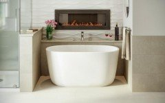 Lullaby Nano Wht Small Freestanding Solid Surface Bathtub by Aquatica web