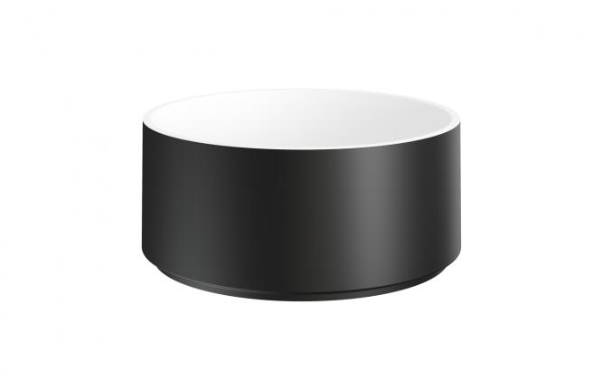 Aquatica Solace B Blck Wht Round Stone Bathroom Vessel Sink (web)