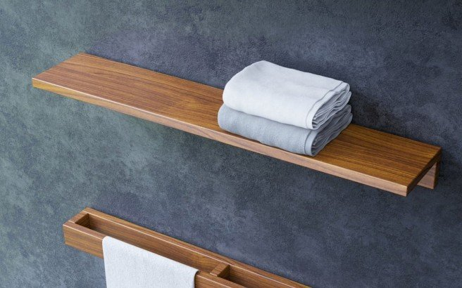 Aquatica Universal 32 Waterproof Wall Mounted Iroko Wood Shelf 03 (web)