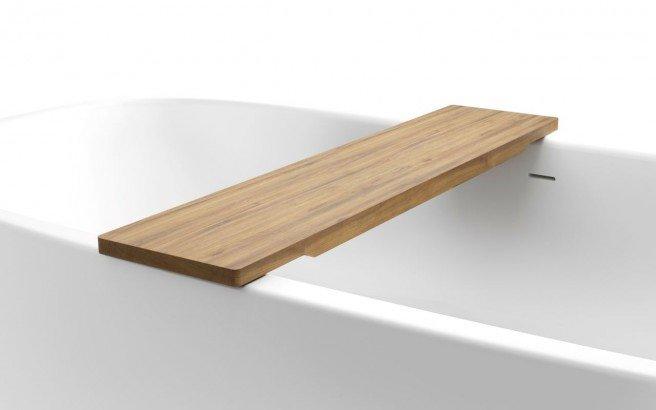 Aquatica Universal 36.25 Waterproof Teak Wood Bathtub Tray01web