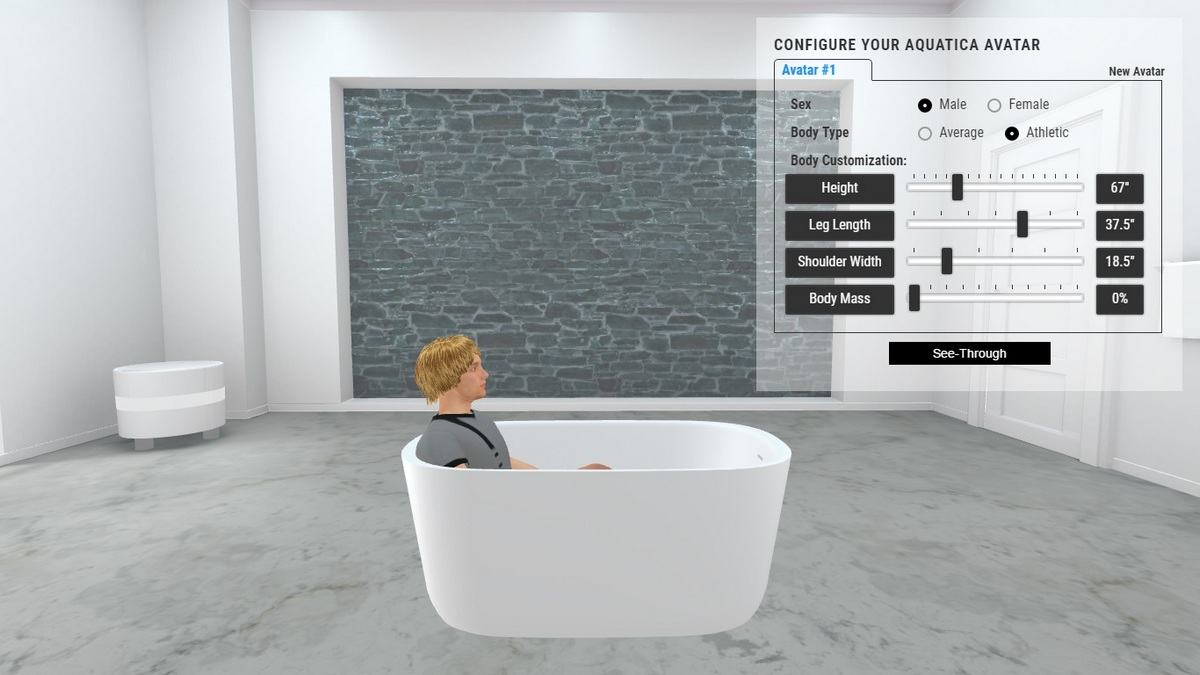 Lullaby Mini Bathtub 3D Body Position