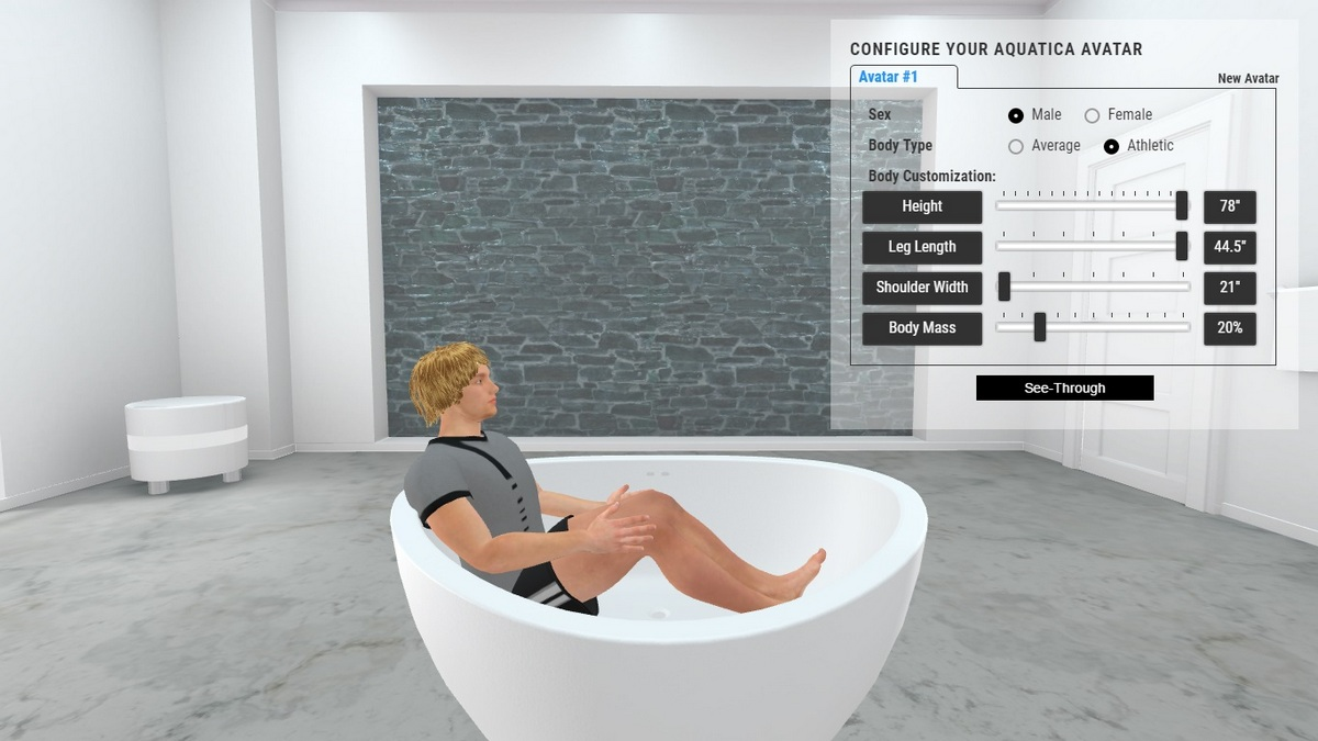 Trinity Bathtub 3D Body Position